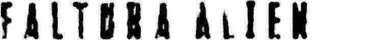 Preview image for Faltura Alien Font
