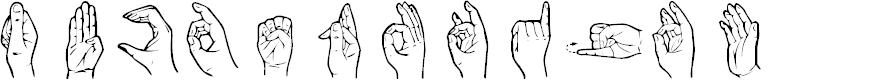 Preview image for HandSign Font