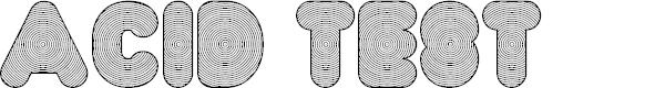 Preview image for FT AcidTest regressive Font