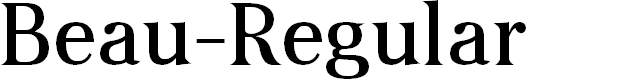 Preview image for Beau-Regular Font