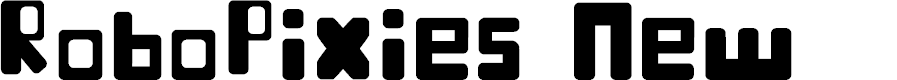 Preview image for RoboPixies New Font