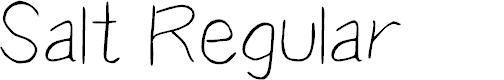 Preview image for Salt Regular Font