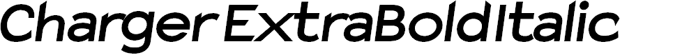 Preview image for Charger ExtraBold Italic