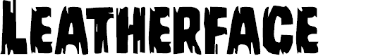 Preview image for Leatherface Regular Font