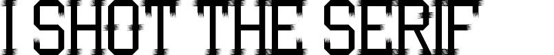 Preview image for I Shot the Serif Regular