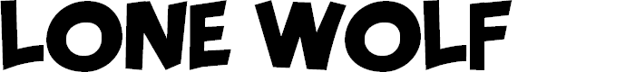 Preview image for LONE WOLF PERSONAL USE Font