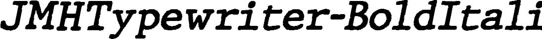 Preview image for JMHTypewriter-BoldItalic