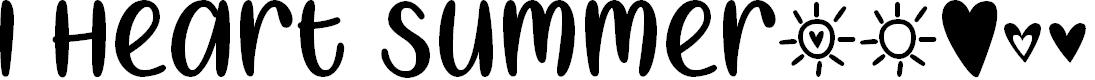 Preview image for I Heart Summer Regular Font