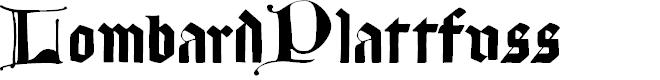 Preview image for LombardPlattfuss Font