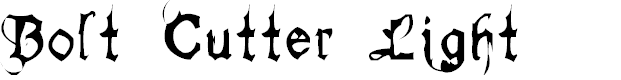 Preview image for Bolt Cutter Light Font
