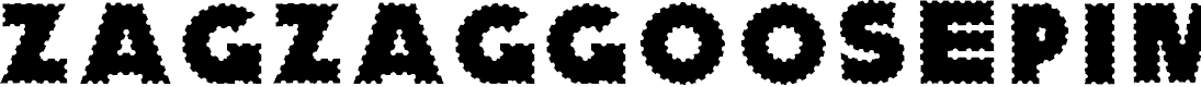 Preview image for ZagzagGoosePimples Font