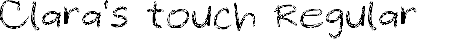 Preview image for Clara's touch Regular Font