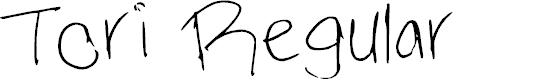 Preview image for Tori Regular Font
