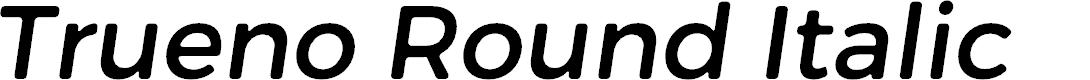 Preview image for Trueno Round Italic