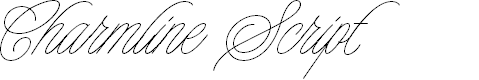Preview image for Charmline Script Personal Use Font