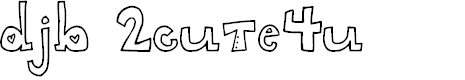 Preview image for DJB 2CUTE4U Font