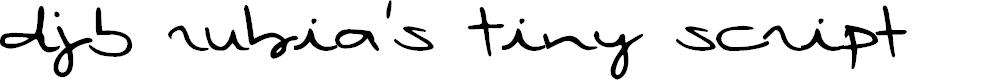 Preview image for DJB Rubia's Tiny Script
