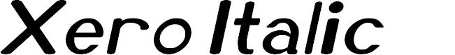 Preview image for Xero Italic