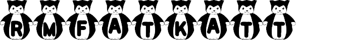 Preview image for rmfatkatt Font