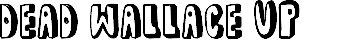 Preview image for dead wallace UP Font