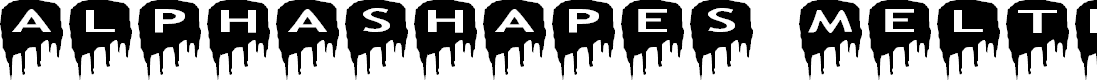 Preview image for AlphaShapes meltdowns reverse Font