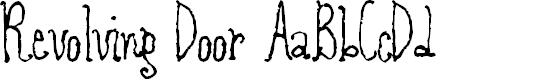 Preview image for RevolvingDoor Font