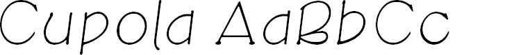 Preview image for CupolaUnicode LightItalic
