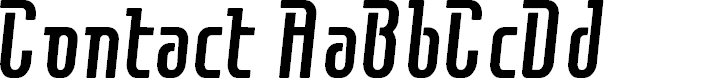 Preview image for Contactregular Font