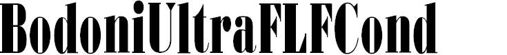 Preview image for BodoniUltraFLFCond Font