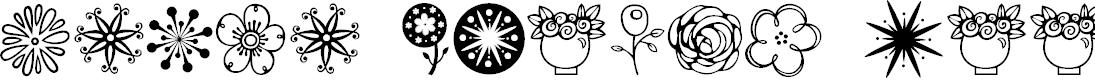 Preview image for Janda Flower Doodles Font