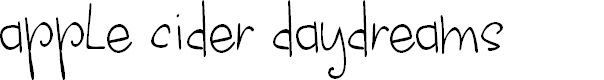 Preview image for apple cider daydreams Font