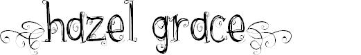 Preview image for {hazel grace} Font