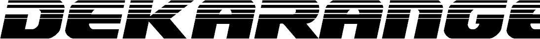 Preview image for Dekaranger Halftone Italic