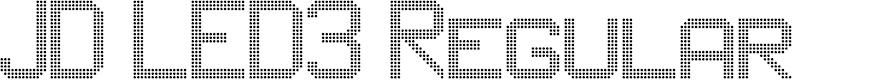 Preview image for JD LED3 Regular Font