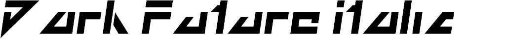 Preview image for Dark Future Italic Font