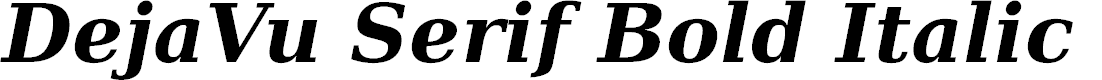 Preview image for DejaVu Serif Bold Italic