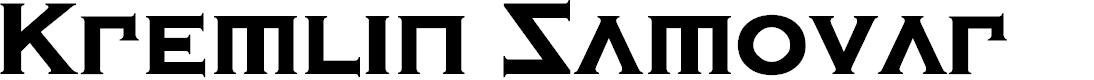 Preview image for Kremlin Samovar Extra Bold Font