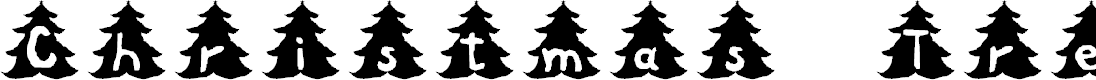 Preview image for Christmas Tree Font