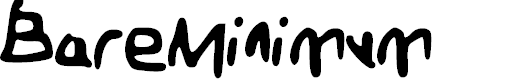 Preview image for BareMinimum Font
