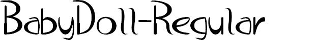 Preview image for BabyDoll-Regular Font