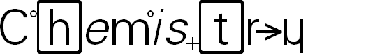 Preview image for Chemistry Font