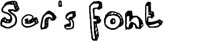 Preview image for Ser's font