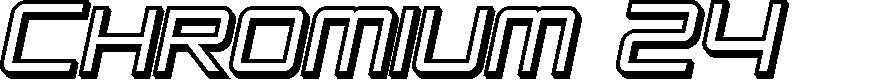 Preview image for SF Chromium 24 SC Bold Oblique
