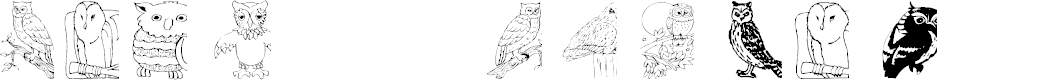 Preview image for AEZ Owls for Traci Font