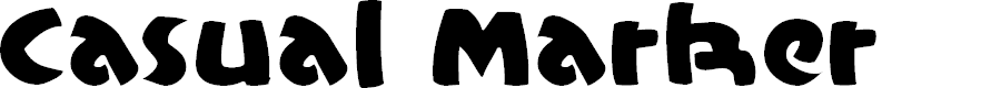 Preview image for CasualMarkerMF Font