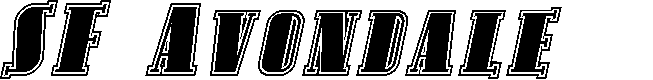 Preview image for SF Avondale SC Inline Italic