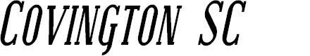 Preview image for Covington SC Cond Bold Italic