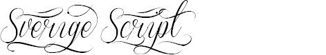 Preview image for Sverige Script Decorated Demo Font