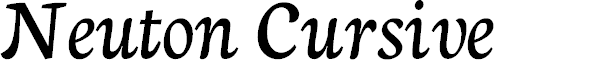 Preview image for Neuton Cursive