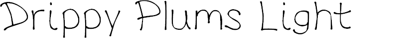 Preview image for DrippyPlumsLight Font